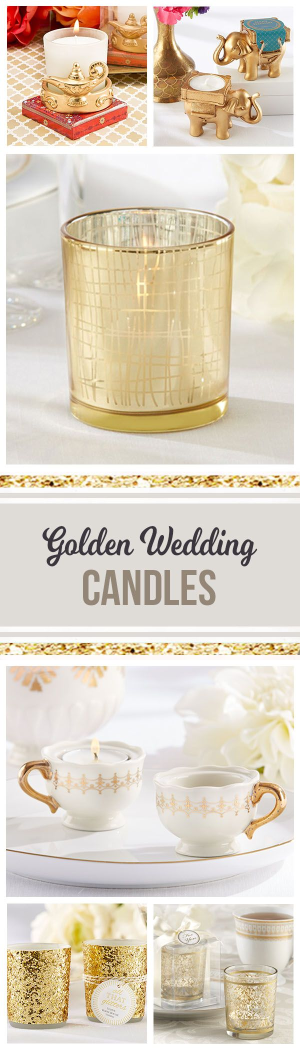 73981f645bd703da7d02302885e11be5  gold candles party fashion - Wedding Favors