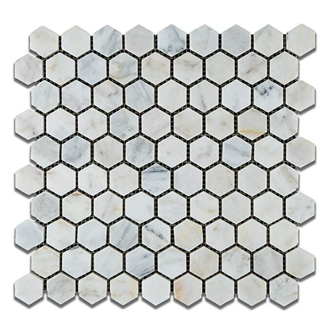 Bianco Venatino Carrara White Carrera Marble Polished 1 25 Inch 1 1 4 Hexagon Mosaic Tile Lot Of 50 Sh Hexagon Mosaic Tile Hexagonal Mosaic Carrera Marble