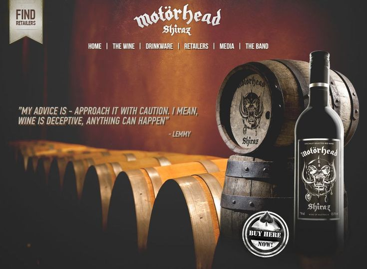 Motörhead Shiraz: The Most Successful Rock Wine in theWorld