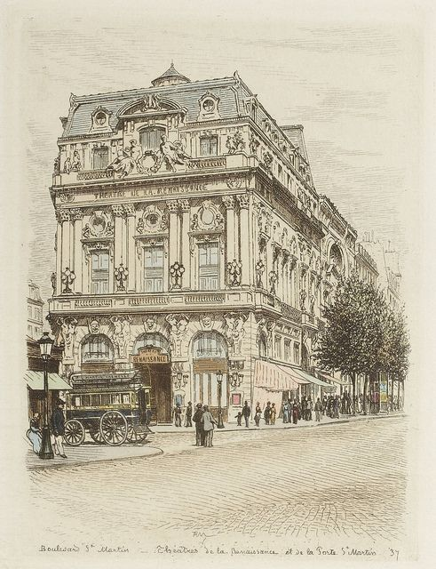 Boulevard Saint-Martin - Théâtres de la Renaissance et de la Porte Saint Martin 1877 | Flickr - Photo Sharing!