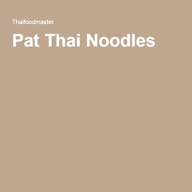 Pat Thai Noodles