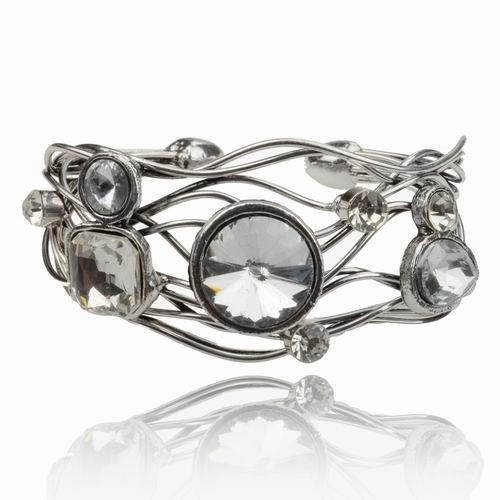 Vintage on the Edge Crystal Quartz Cuff