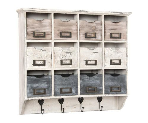 #Pensile con ganci in legno di abete dulce colore Multicolor  ad Euro 99.00 in #Detall item #Furniture storage furniture