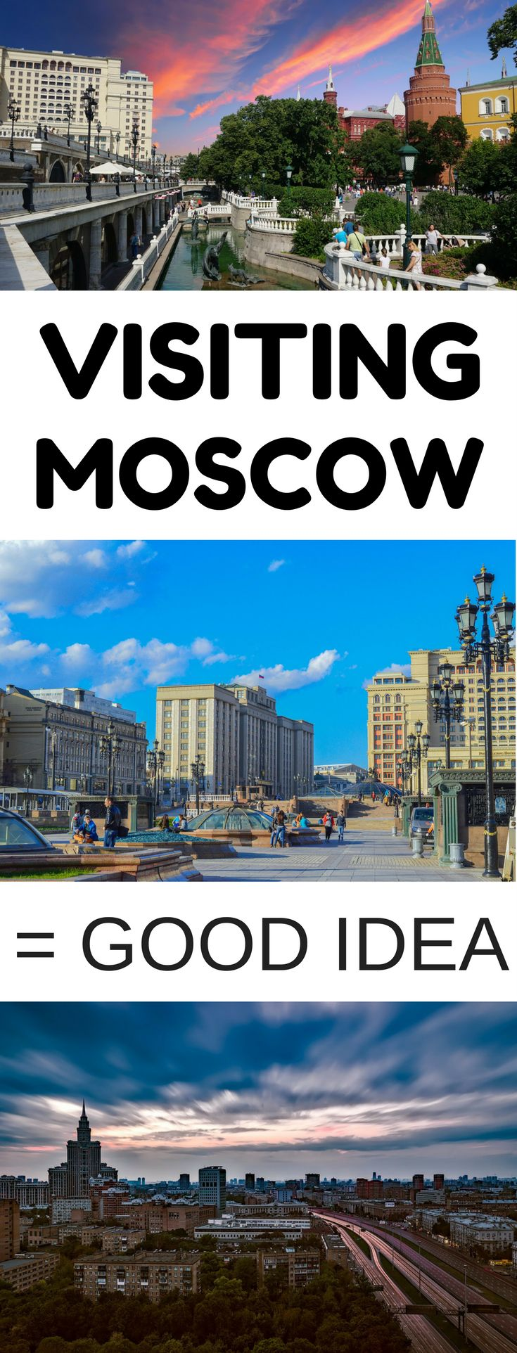 Moscow, Russia - If you're considering visiting Moscow, you should travel to Russia ASAP and visit the city. It's amazing with plenty of attractions for everyone