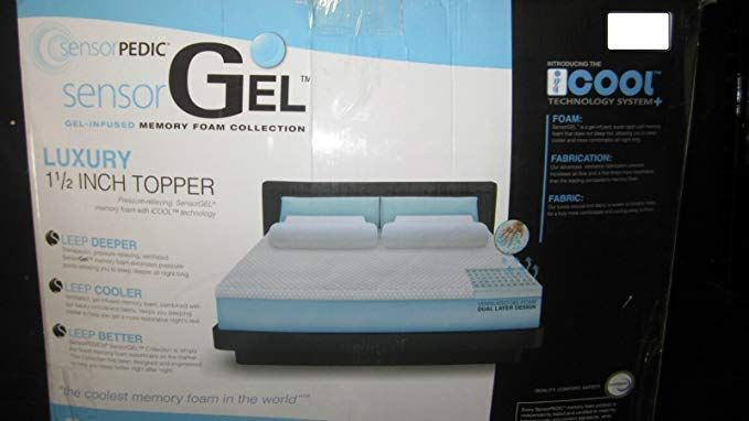 Sensorpedic Sensorgel 1 5 Inch Queen Memory Foam Mattress Topper Review Queen Memory Foam Mattress Memory Foam Mattress Topper Foam Mattress Topper