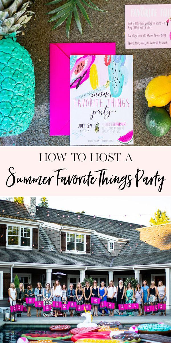 Wie man eine Sommer-Lieblingssachen-Partei bewirtet