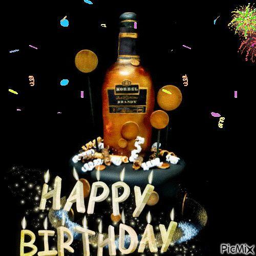 Открытка с виски с днем рождения