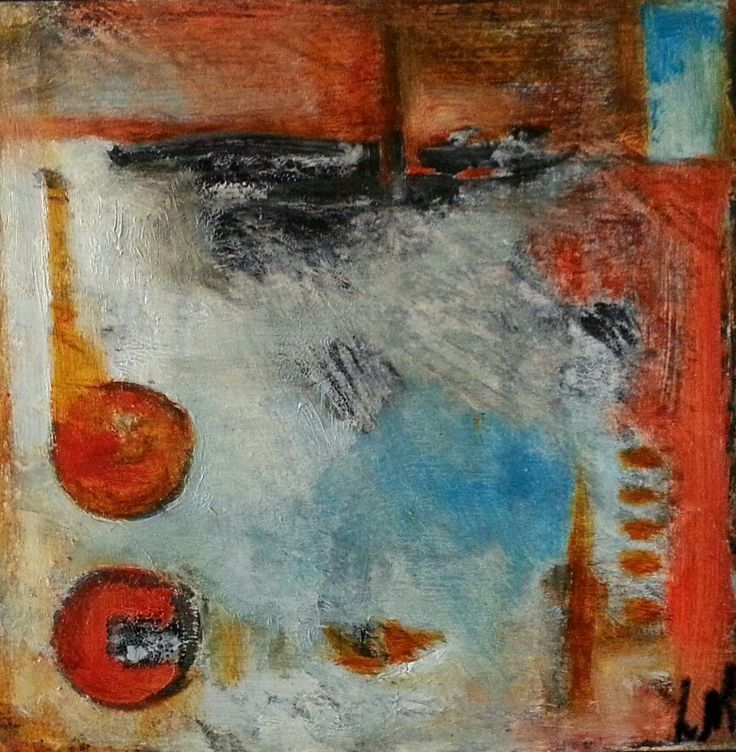 """Lynne Mettam BAKER STREET - framed Acrylic/mixed media on canvas 29.5 X 29.5 X 2 cm $120 From an old book called """"50 paces to Baker Street"""" where there was always a fog of sorts and you felt rather chilly!"""