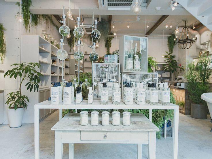 BOTANIST Tokyo Interior.     #botanist #green #plants #earth #botanical #shampoo #bath #japanese #brand #Japan  #body milk #body lotion #skincare #skin #bodylotion #natural #lifestyle #slowliving #nature #organic  #made in Japan #inspiration #drink #food #lifestyle  http://botanistofficial.com/