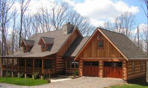Detached garage with breezeway pictures breezeway garage for Log cabin style garages