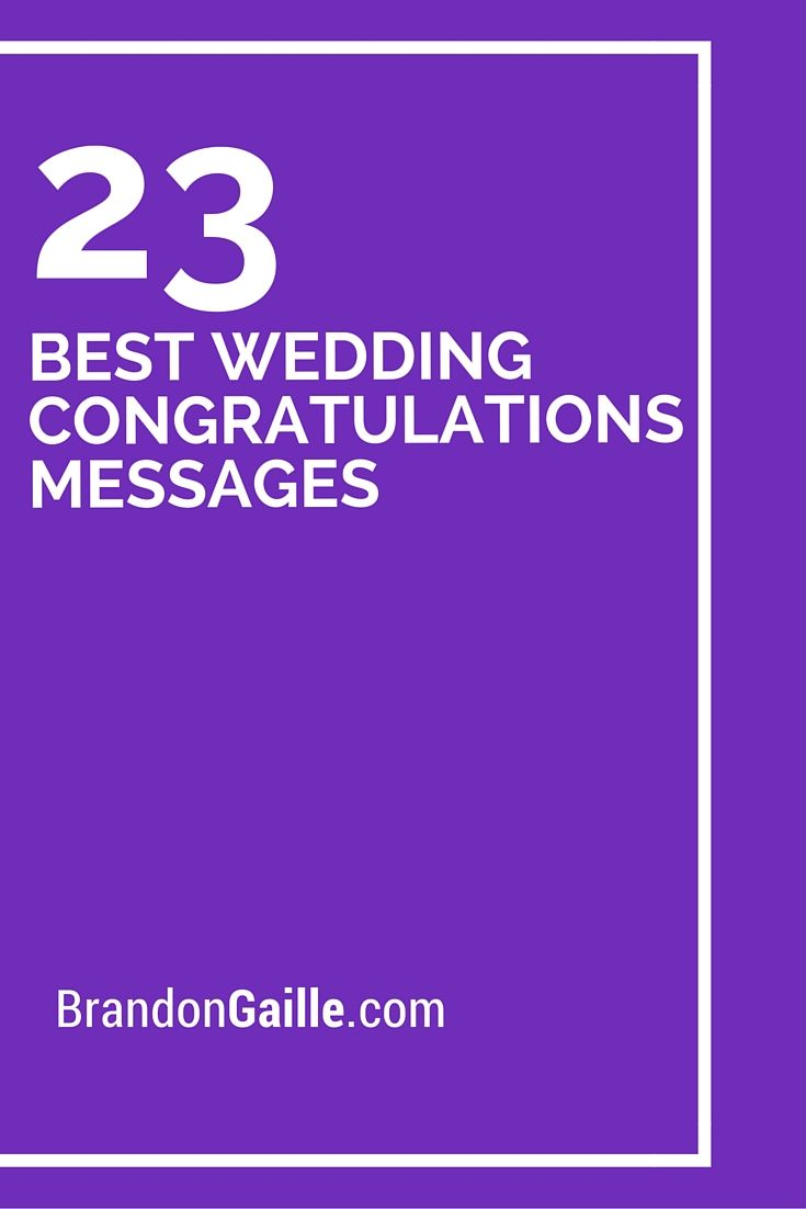 23 Best Wedding Congratulations Messages