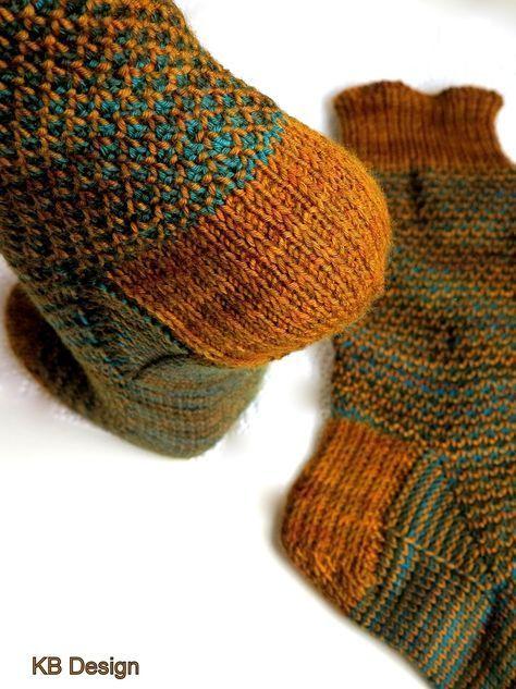 Perlmuster Socken Stricken Verstärkte Ferse Anleitung Wollmeise