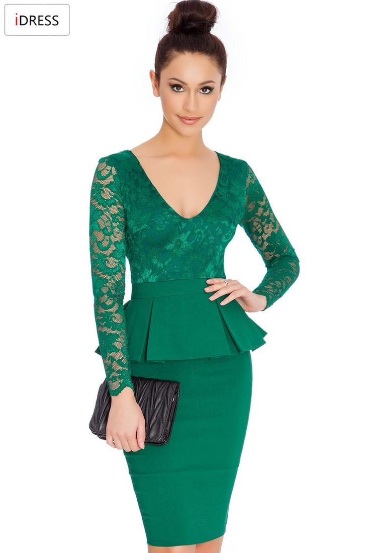 Idress женщины работают платья 2016 новинка для офиса сексуальная элегантный с…