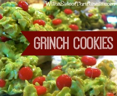 Festive Grinch Cookies