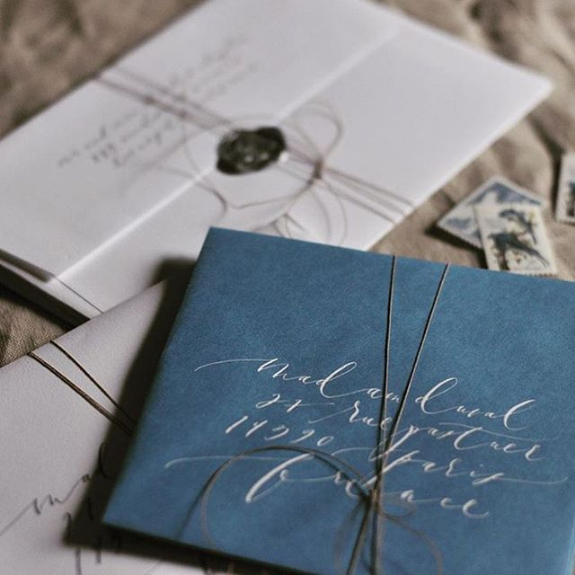Beautiful paper and calligraphy from @brownlinendesign.