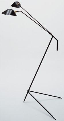Serge Mouille floor lamp, c. 1950.