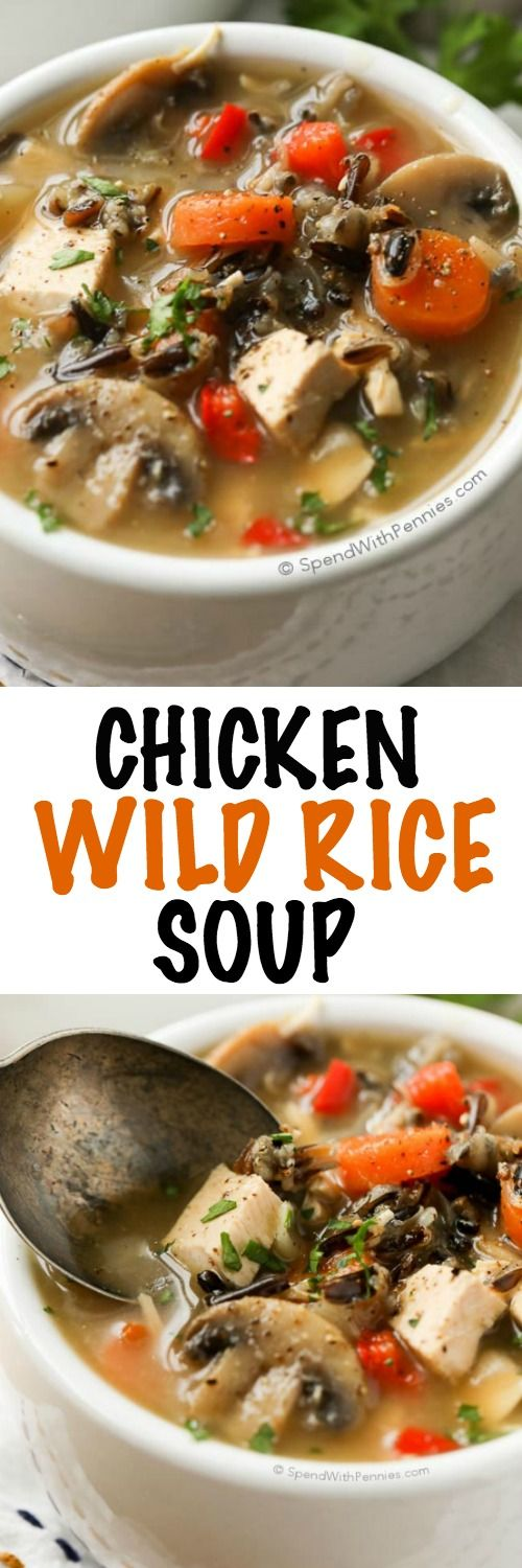 This flavorful Chicken Wild Rice Soup is hearty and delicious loaded ...
