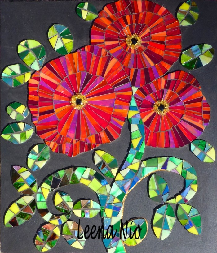 poppies: Craft, Mosaics, Art Inspiration, Poppies, Mosaic, Photo, Mosaic Art, Mosaic Flowers
