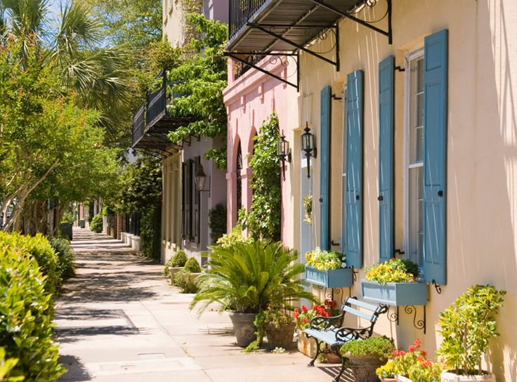 Charleston, South Carolina: Downtown Charleston, Charleston Sc, Favorite Places, Row Benches, Rainbows Row, Row Charleston, Benches Photo, Window Boxes, Charleston South Carolina