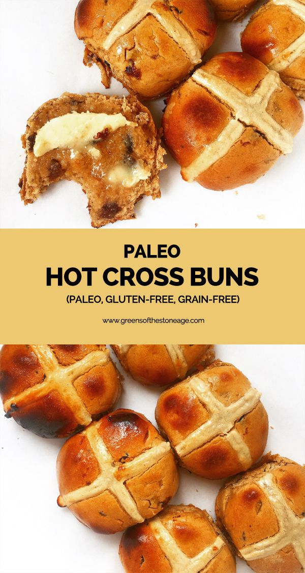 These grain and gluten-free Paleo Hot Cross Buns are amazing! Fluffy, spiced and delicious they're sure to make your Easter the best yet!