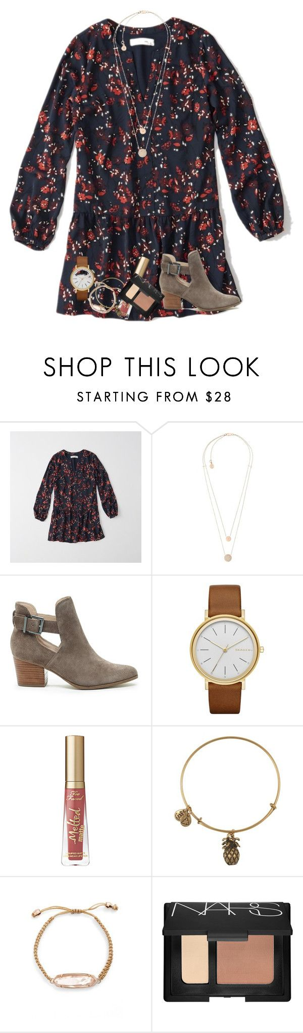 """""""this girl is on fire"""" by kyliegrace ❤ liked on Polyvore featuring beauty, Abercrombie & Fitch, Michael Kors, Sole Society, Skagen, Alex and Ani, Kendra Scott and NARS Cosmetics"""