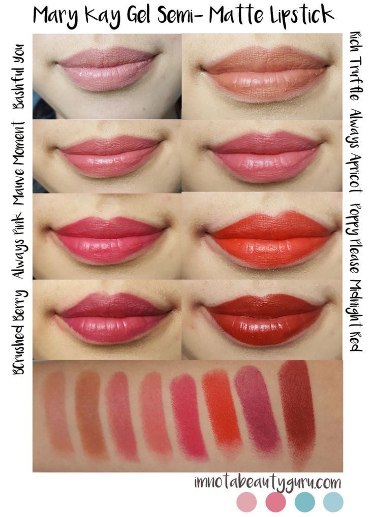 Review: Mary Kay Gel Semi- Matte Lipsticks + Swatches