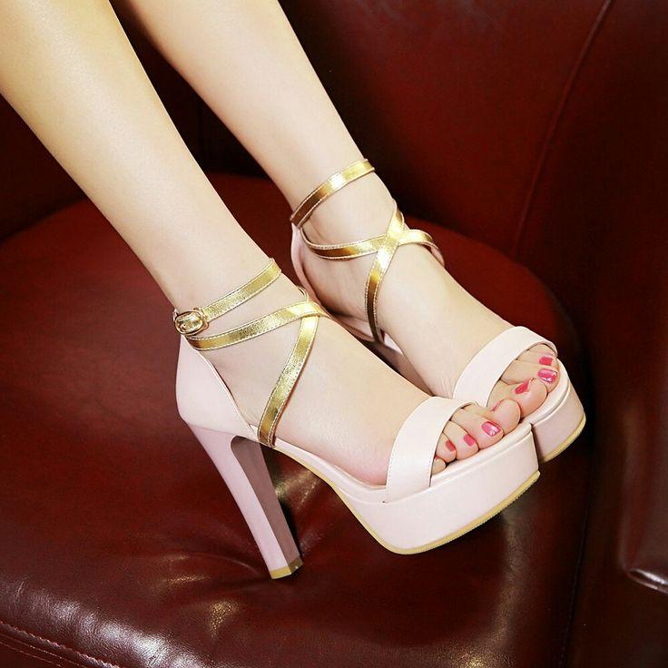 $17.5 - Pink Lovely Pumps Style! #peeptoes #highheels #onlineshop #oli_oddie