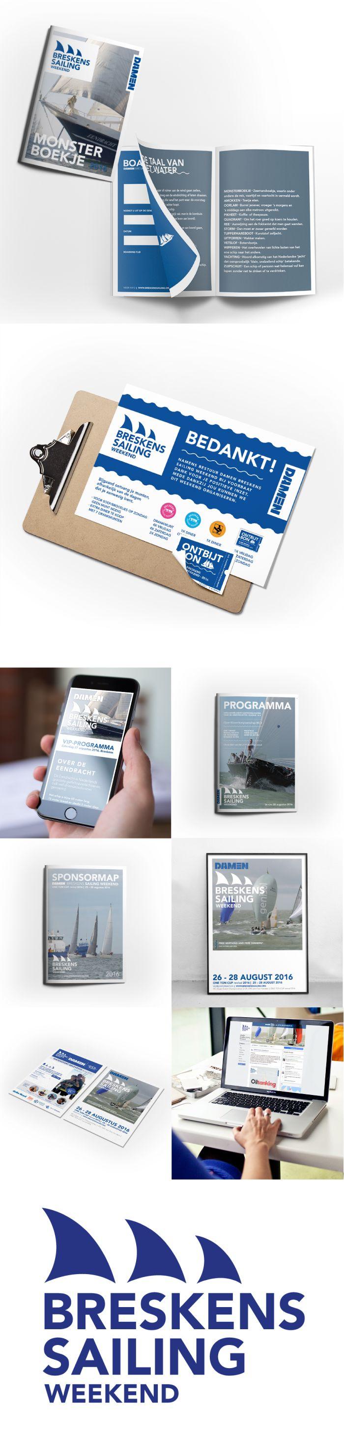 • FINAL DESIGN •   Voor DAMEN Breskens Sailing Weekend verzorgt #ontwerpbureau #Thee & #Typografie verschillende grafische ontwerpen. Waaronder een nieuwe logo, advertenties, uitnodigingen, posters, sponsormap, programmaboek, monsterboekje en fb design/posts.  — #DAMEN #Breskens #sailing #weekend #sail #grafisch #ontwerp #logo #ads #poster #flyer #brochure #folder #programma #monsterboekje #sponsormap #tentypografie #theeentypografie #vlissingen #middelburg #veere #domburg #zeeland