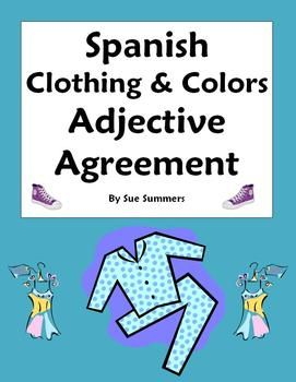 worksheets spanish and clothing items on pinterest. Black Bedroom Furniture Sets. Home Design Ideas