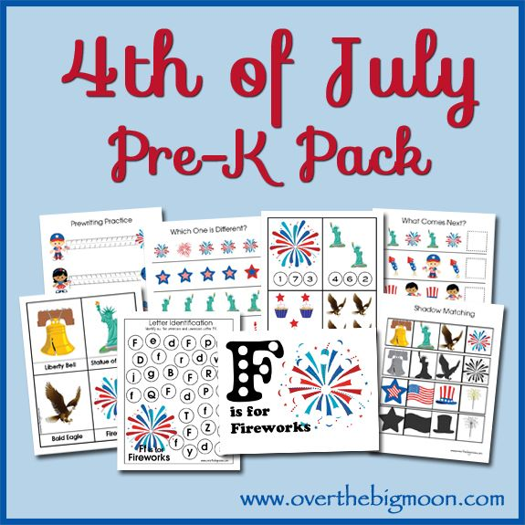 4th of July Pre K Pack