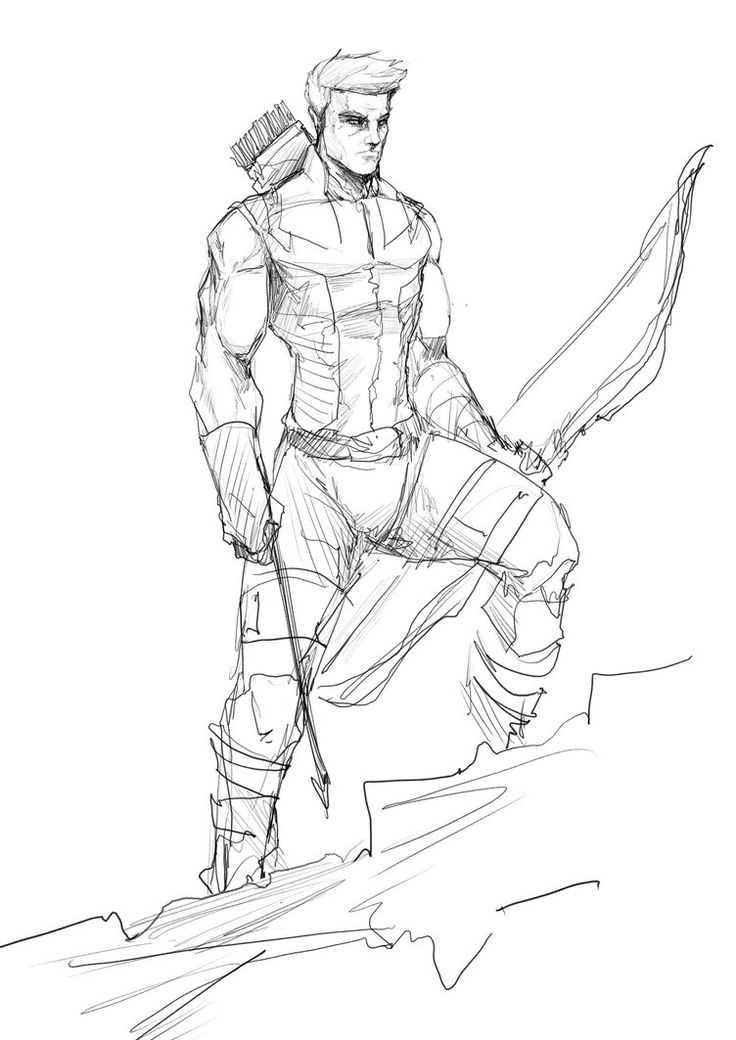Jpg To Line Drawing : Hawkeye by sketchydeez on deviantart heroes villains