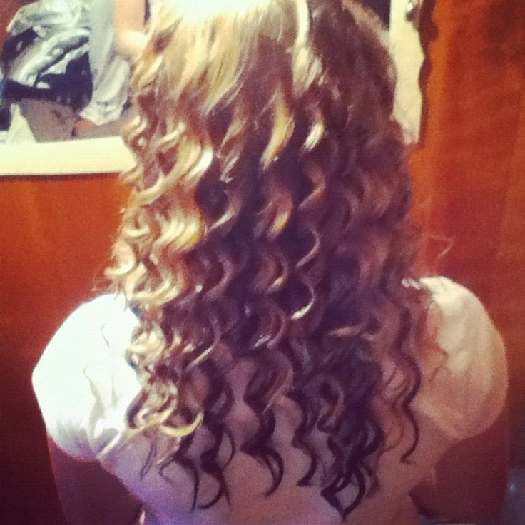 Nice tight curls are easy to do , because I have medium