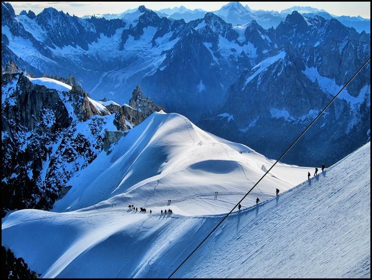 Aguille du Midi, Chamonix, Summer, French Alps, Snow, Hicking