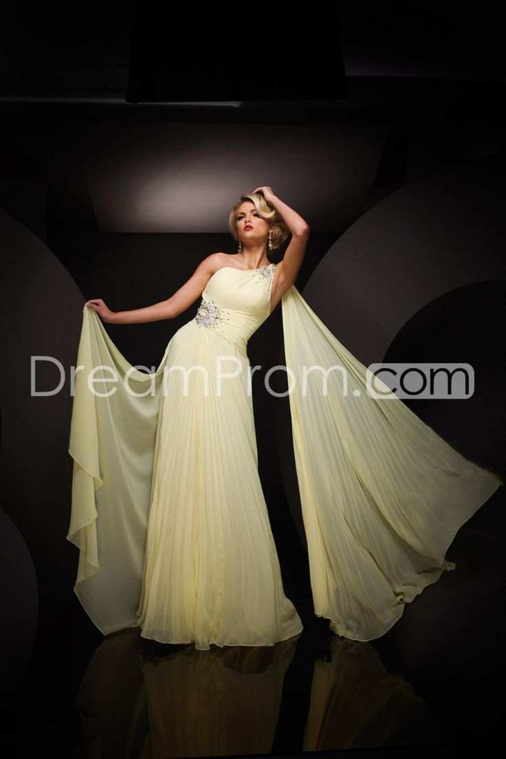 Attractive A-line One Shoulder Floor-length Chiffon Evening Dresses