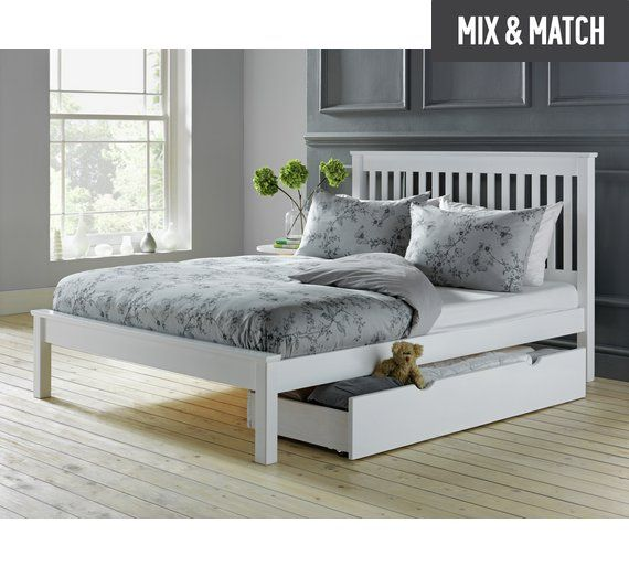 Buy Collection Aspley Small Double Bed Frame - White at Argos.co.uk, visit Argos.co.uk to shop online for Bed frames, Beds, Bedroom furniture, Home and garden