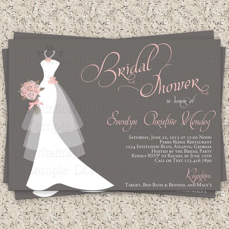 Bridal Shower Template 25 Invitations Templates Psd Free 13 Printable With Style