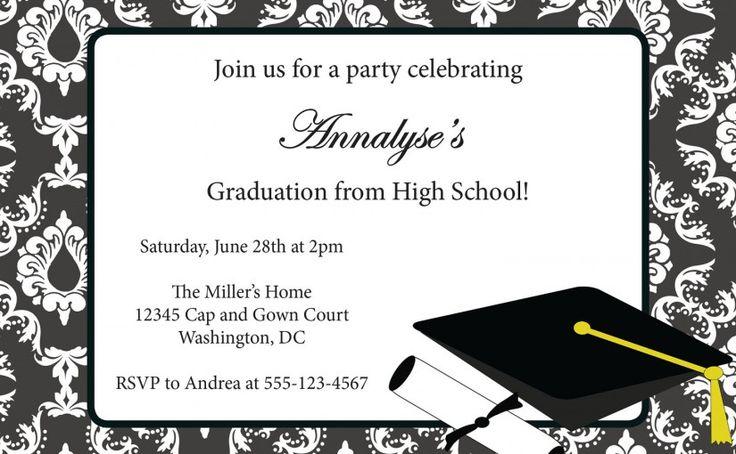 309 best invitation sample images on pinterest invitation sample invitation card for graduation party stopboris Images