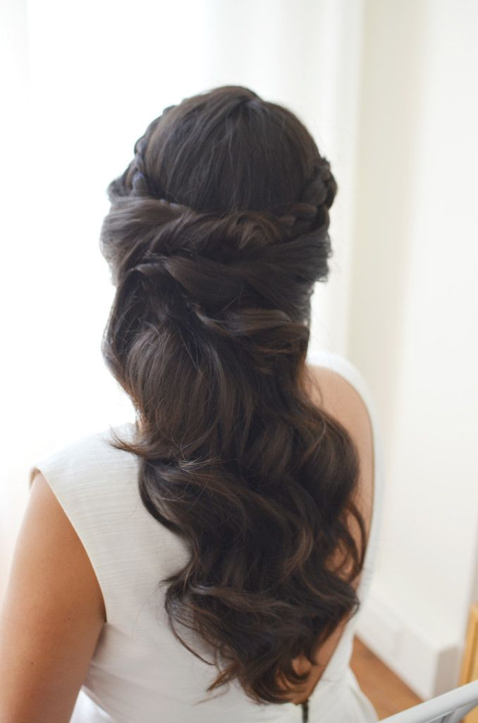 Hairstyle For Wedding 290 best wedding hairstyle ideas images on pinterest hairstyle ideas hairstyles and marriage Best 25 Wedding Hair Brunette Ideas Only On Pinterest Brunette Wedding Hairstyles Beautiful Hairstyles And Wedding Hairstyle