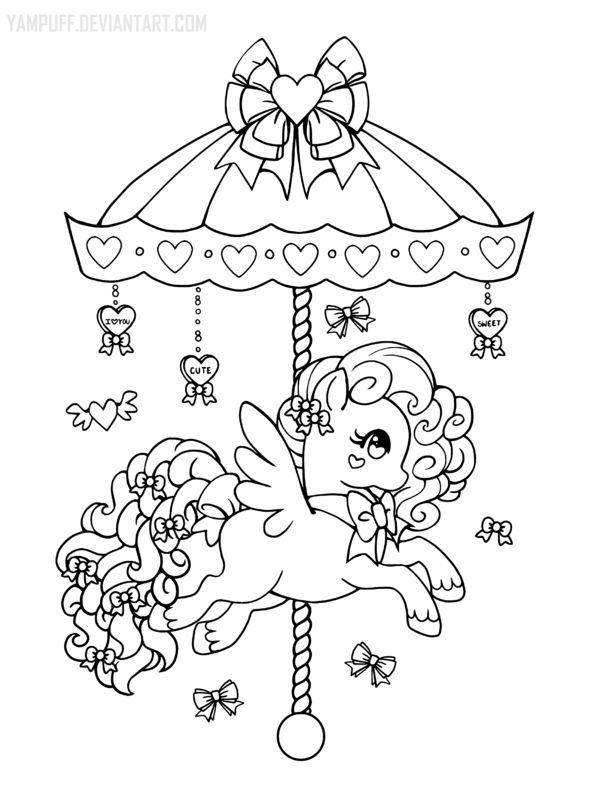 i probably will not be uploading any more carousel ponies as i have a carousel coloring book planned for this year this lineart is ava