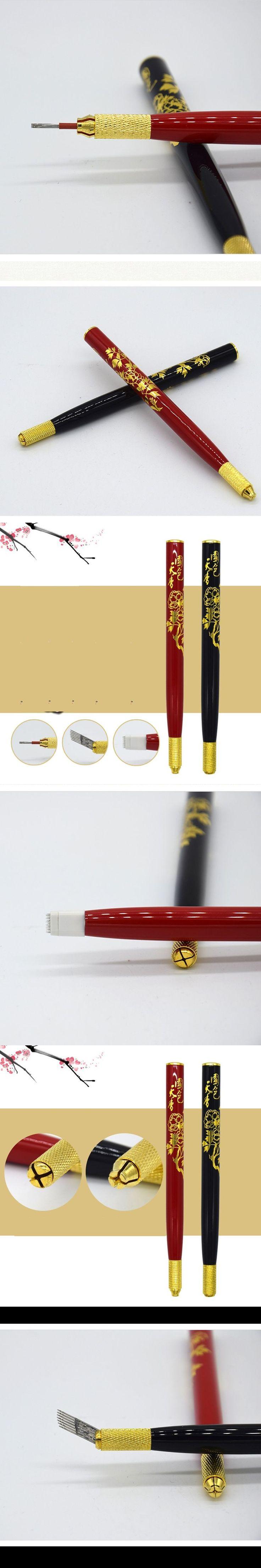Professional Tebori Eyebrow Tattoo Pen Permanent Makeup Pen Machine Microblade Pen for Lip and Eyebrow Tattoo Equipment