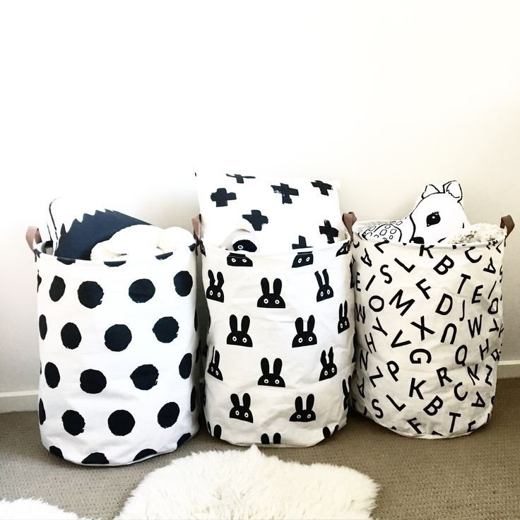 These versatile and durable canvas bags are handy all over the house, especially in a little one's room to store their toys or laundry!...