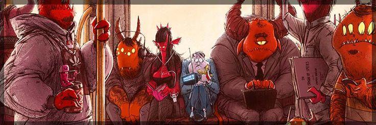 The Amazing Illustration World of Michal Dziekan