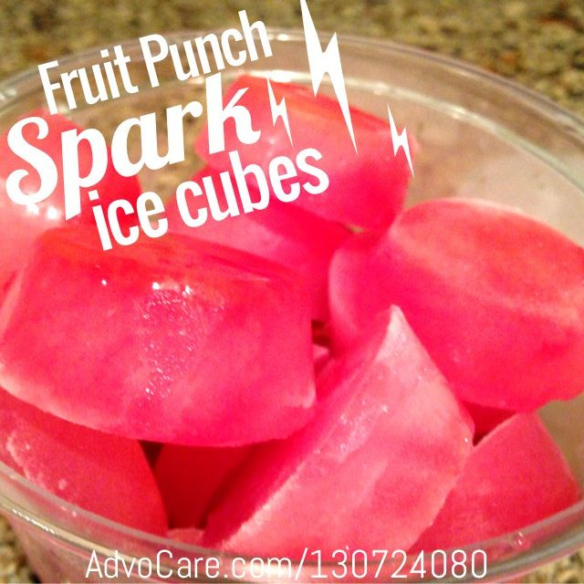 Advocare Spark Ice Cubes: Add fruit for an added bonus! Ask how I can help you live a healthier lifestyle https://www.advocare.com/13085127/
