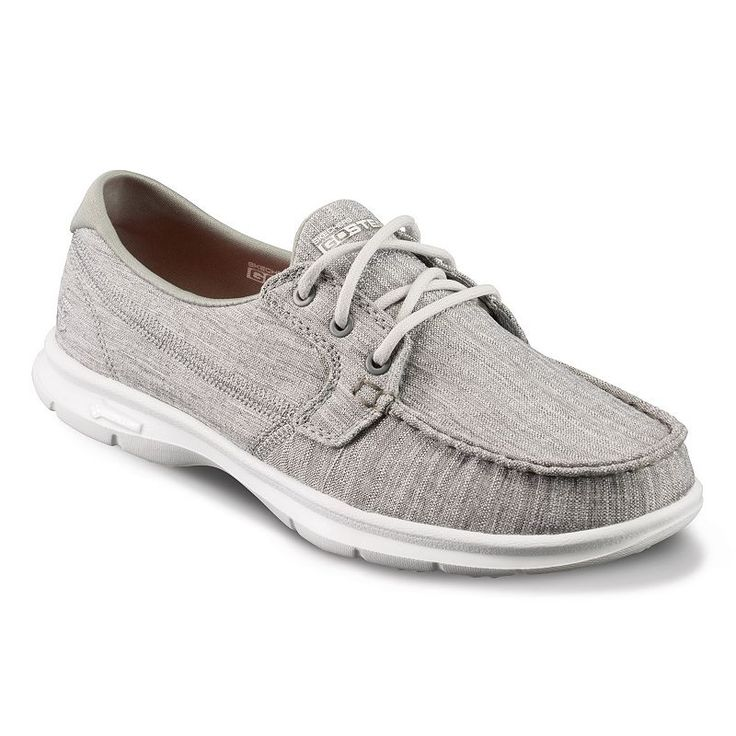 Skechers GO Step Marina Women's Boat Shoes, Size: 5, Med Grey