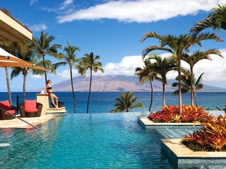 The adults-only serenity pool at the Four Seasons Maui at Wailea  Maui, Hawaii  What You'll See: The 4,100-square-foot pool, which opened in 2009, overlooks the Pacific Ocean, with views of the Island of Lanai and the West Maui mountains.