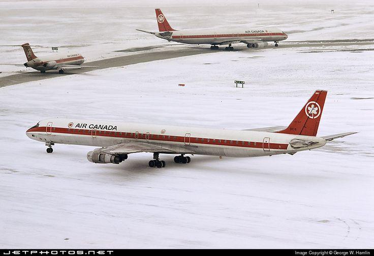 High quality photo of CF-TJT (CN: 45890) Air Canada Douglas DC-8-61 by George W. Hamlin