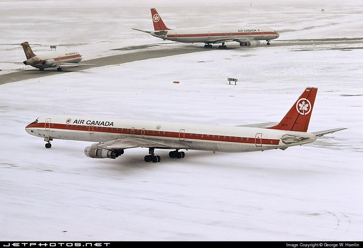 High quality photo of CF-TJT (CN: 45890) Air Canada Douglas DC-8-61 by George W. Hamlin