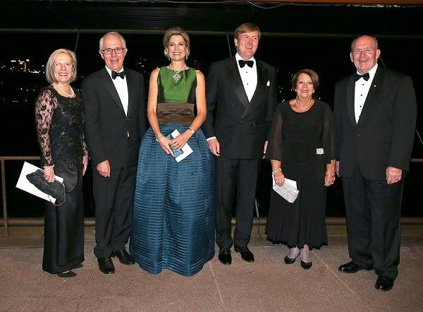 Queen Maxima, King Willem, Malcolm Turnbull, Lucy Turnbull, Peter Cosgrove, Lynne Cosgrove at a concert