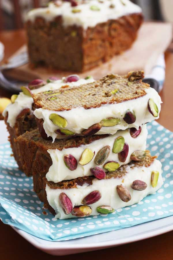 Banana & pistachio loaf with white chocolate cream cheese frosting. Quite possibly the best banana bread you'll ever eat - or at least one of the best!