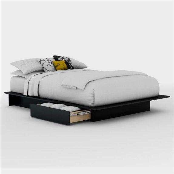 Step One Black Platform Bed With Storage Discovered